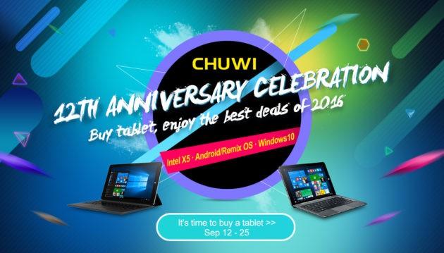 12° anniversario di Chuwi: sconti su vari store