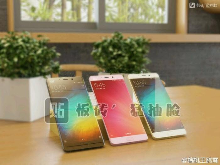 Xiaomi Mi Note 2 si mostra in un'altra foto