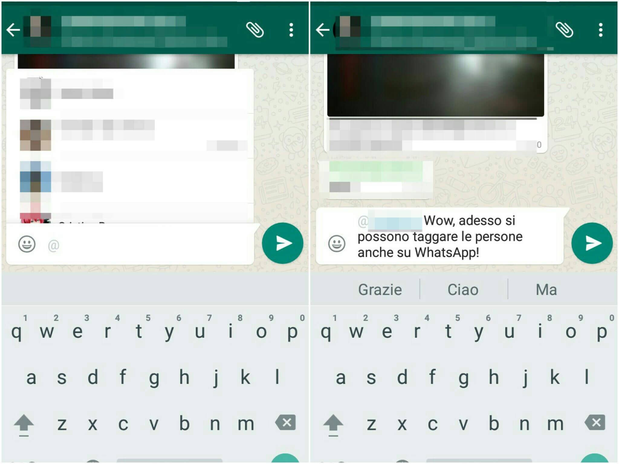 WhatsApp si aggiorna: ora sarà possibile anche taggare gli amici