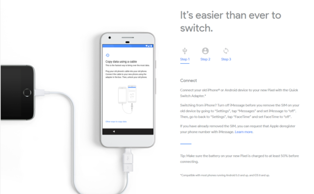 Quick Switch Adapter: Google ci aiuta a passare da iPhone a Pixel