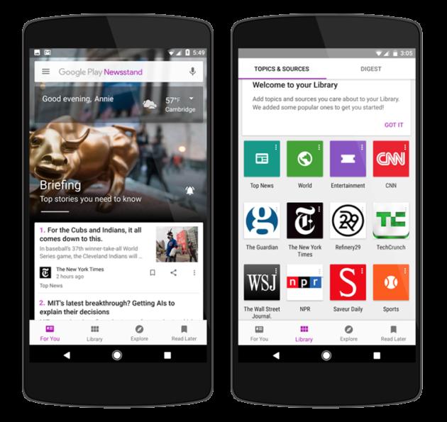Google Play Edicola si aggiorna: machine learning ed una nuova web app