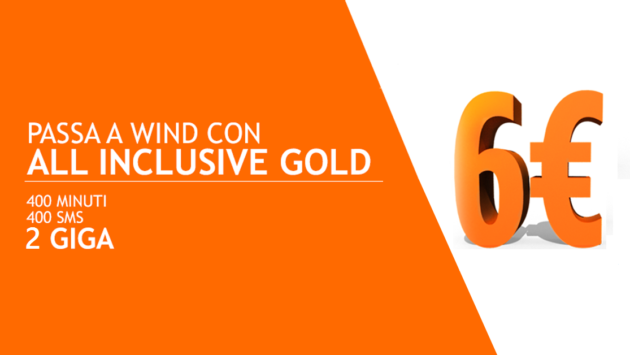 Wind offre All Inclusive Gold a soli 6 euro per i clienti TIM