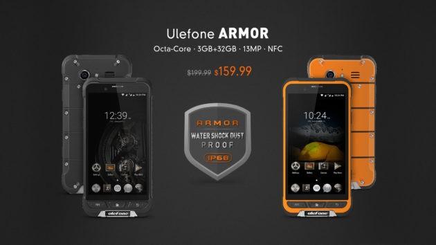 Ulefone Armor: smartphone rugged ufficialmente preordinabile