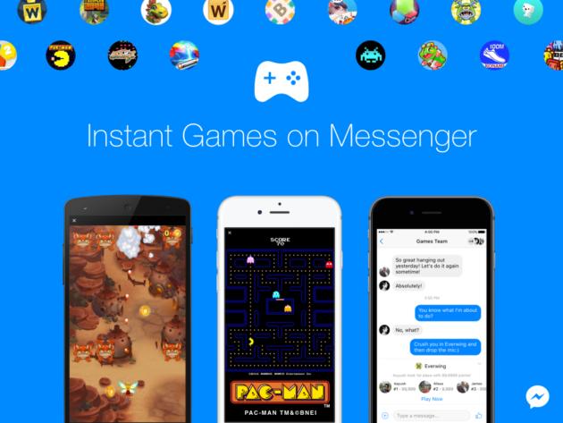 Facebook Messenger: arrivano gli Instant Games