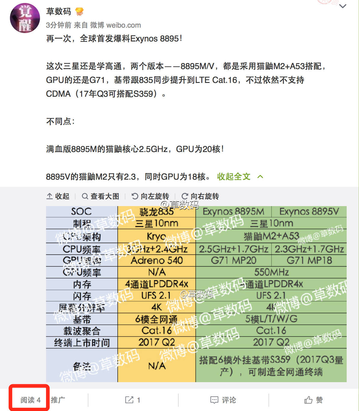 Samsung Galaxy S8, nuovi dettagli sul processore Exynos 8895