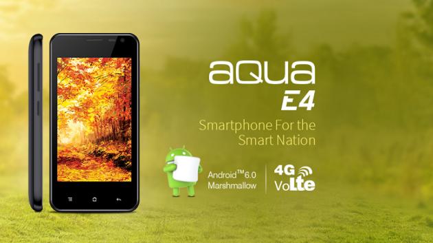 Intex Aqua E4, schermo 4'' e prezzo ultra low cost