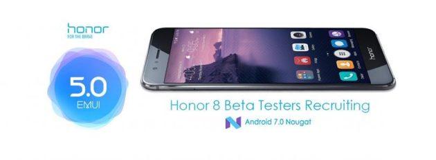 Honor 8, la prima beta di Android Nougat è disponibile al download