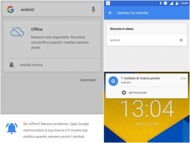 Connessione intermittente? Google Search funziona anche offline!