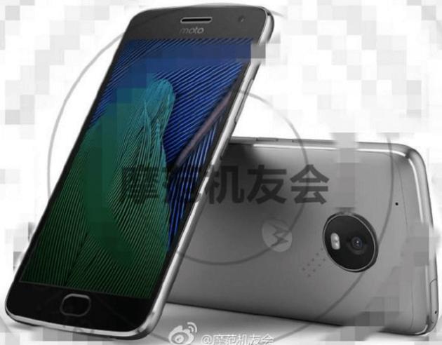 Lenovo Moto G5 Plus si mostra in un'immagine stampa