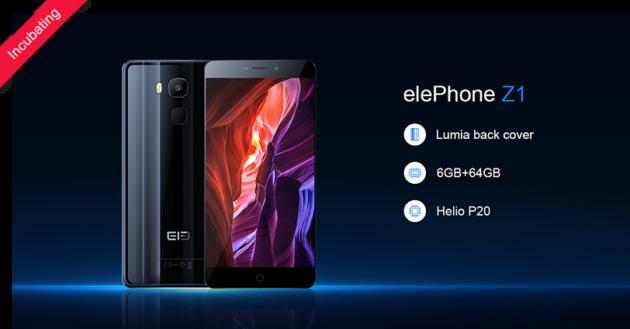 Elephone Z1: avviata la campagna di crowdfunding