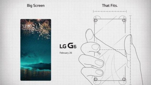 LG G6: invito ufficiale