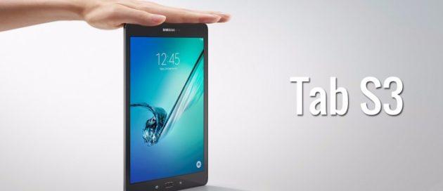Galaxy Tab S3 presentato ufficialmente al MWC 2017