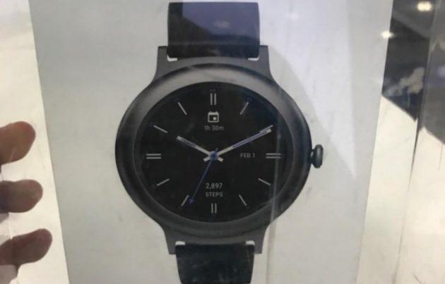 LG Watch Style, una foto della confezione mostra il design dello smartwatch