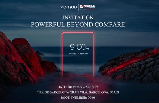 Vernee sarà presente al MWC con cinque smartphone