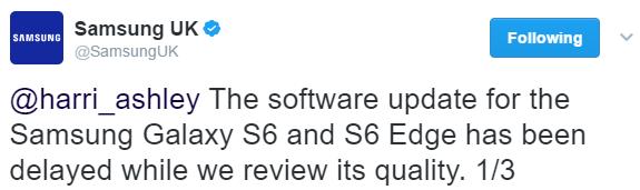 Nougat Galaxy S6 Edge