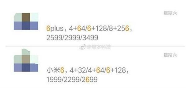 Mi 6 e Mi 6 Plus