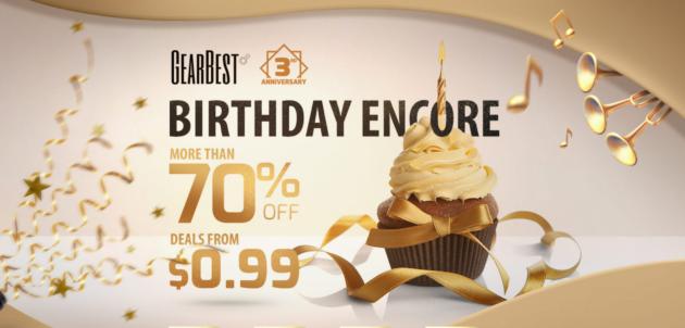 GearBest: numerosi sconti per il terzo anniversario