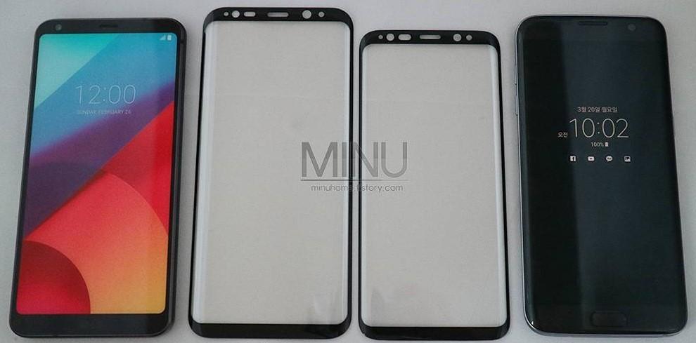 Galaxy S8 dimensioni a confronto con i diretti avversari (3)