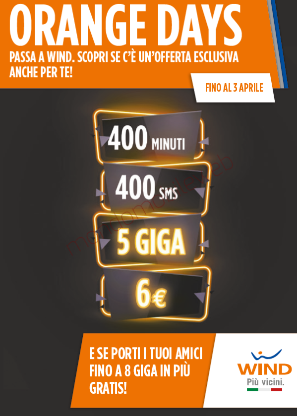 Wind All Inclusive Gold 5 Giga a 6 euro ogni 4 settimane
