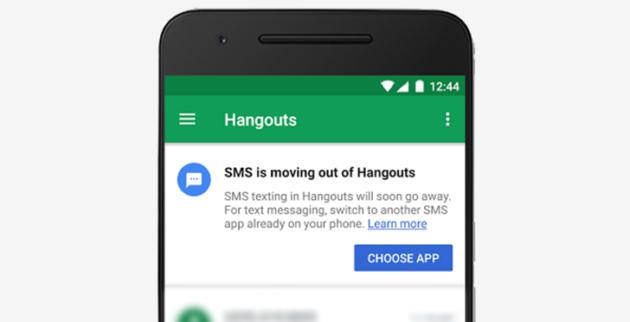 Hangouts dice addio al supporto agli SMS