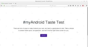 Taste Test myAndroid