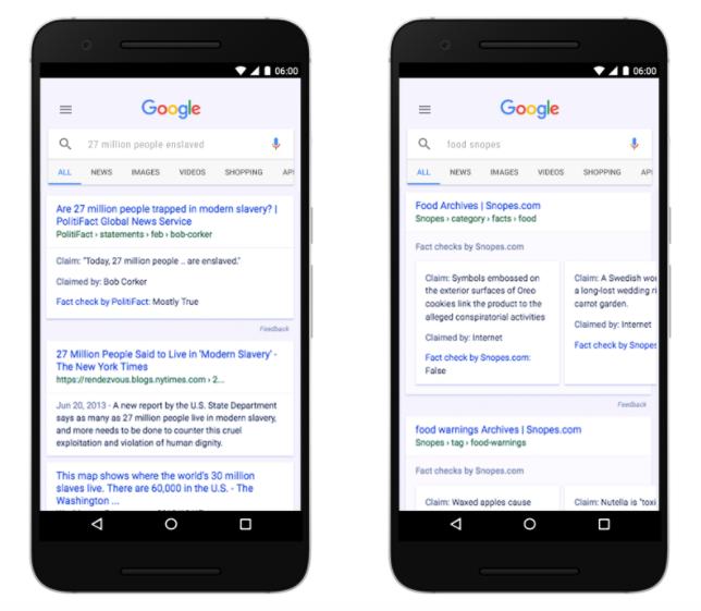 Google da oggi riconoscerete le potenziali bufale grazie all'etichetta Fact Check (1)
