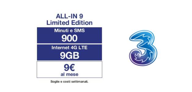 Tre Italia: torna la All-IN 9 Limited Edition