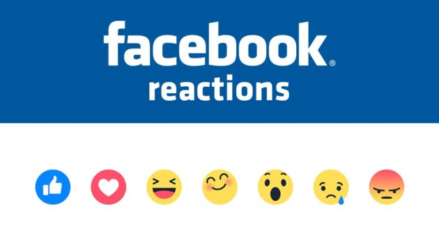 Facebook Reactions disponibili anche nei commenti