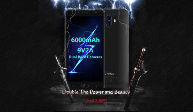 Gretel GT6000: dual camera e batteria da 6000 mAh