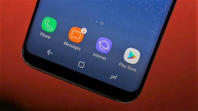 Galaxy S8: un aggiornamento limita i colori della navbar