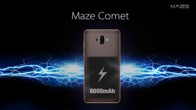 Maze Comet, uno smartphone che punta tutto sulla batteria