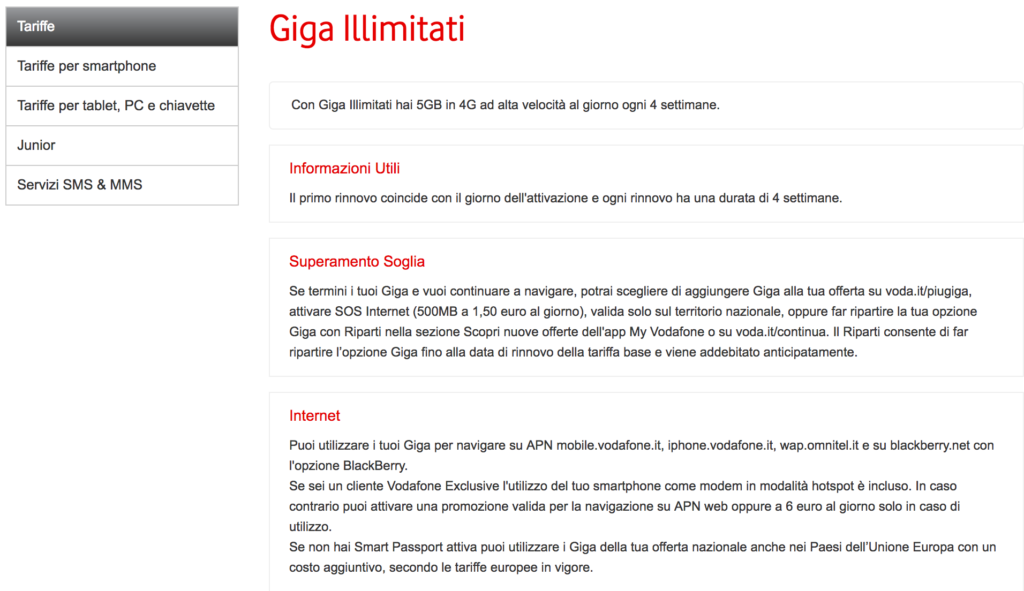 Vodafone vi accontentereste di 5 Giga al giorno in 4G (2)