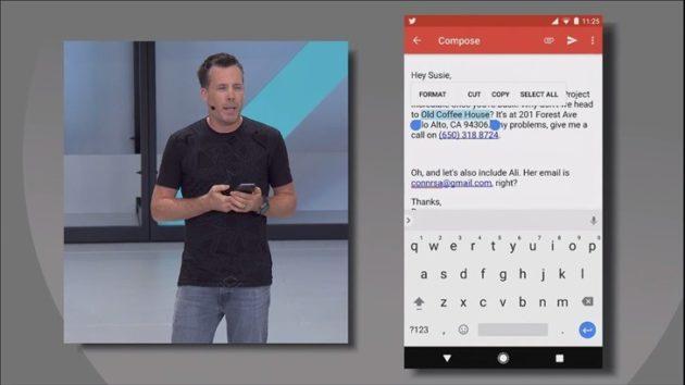 Android O: grazie allo Smart Text Selection si potranno evidenziare subito le parole giuste con un doppio tap [Google I/O]