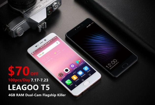 LEAGOO T5: in sconto fino a $70 su Banggood