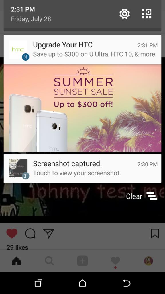 HTC continua ad inviare pubblicità sugli smartphone dei propri clienti (2)