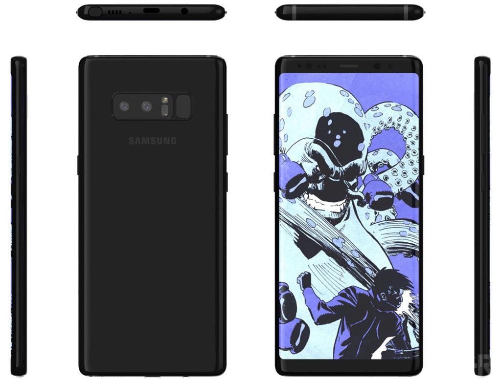 Samsung Galaxy Note 8 prosegue l'invasione dei render (4)