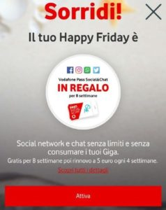 Vodafone Happy Friday graditi premi per i clienti (1)
