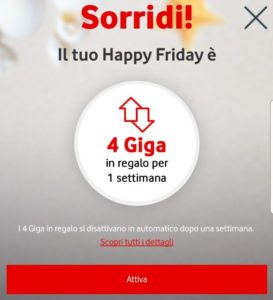 Vodafone Happy Friday graditi premi per i clienti (2)