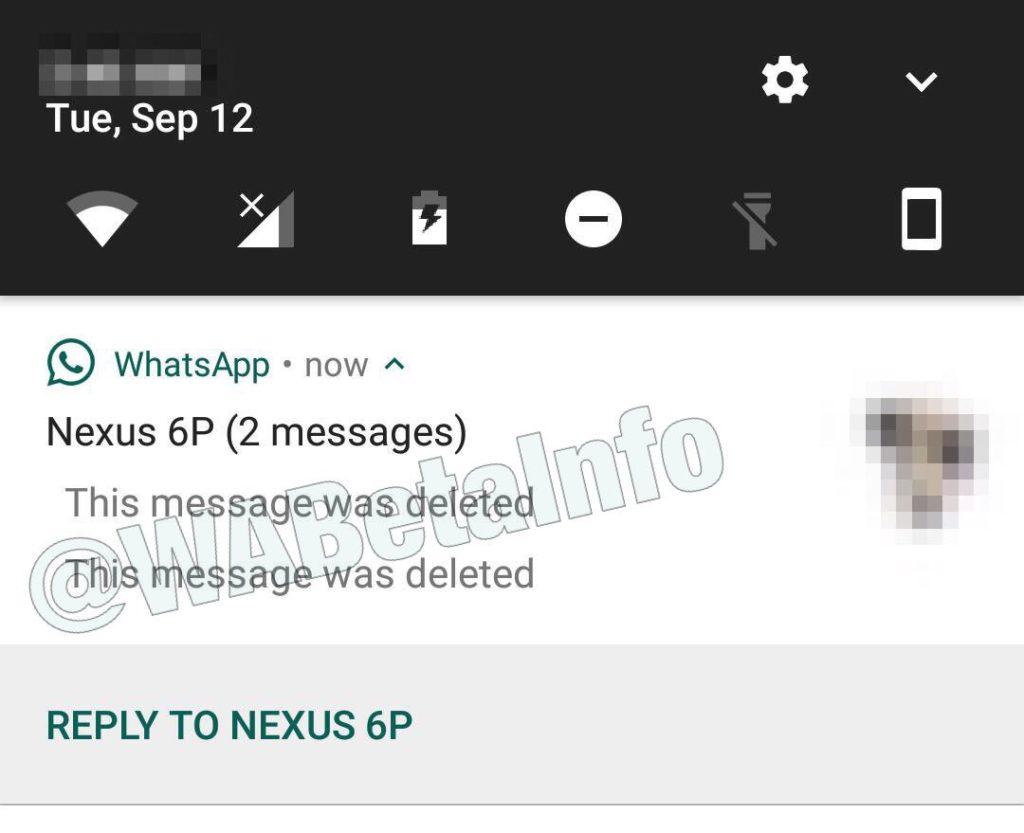 WhatsApp sta testando la cancellazione dei messaggi inviati (2)