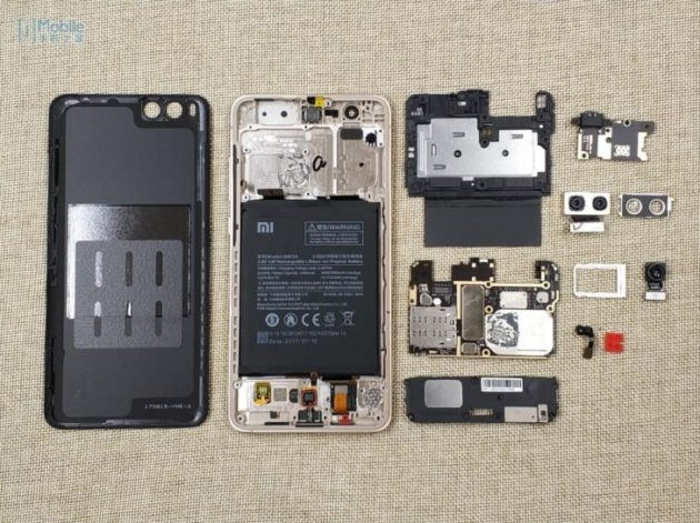 Xiaomi Mi Note 3: rivelato un teardown