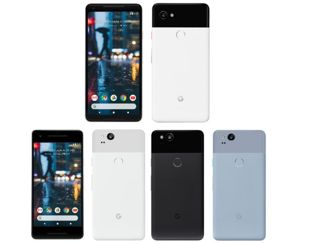 Evan Blass mostra Google Pixel 2 e 2 XL in dei render