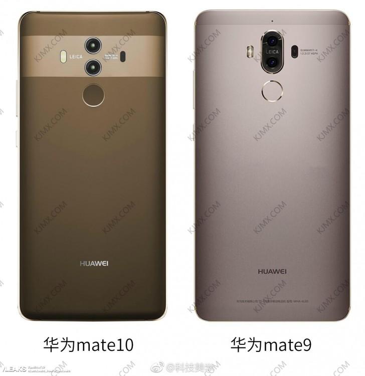 Huawei Mate 10 Pro eccolo al fianco del precedente Mate 9