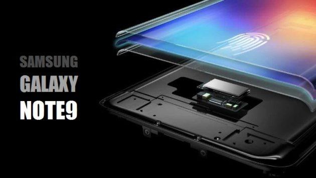 Note 9 sarà equipaggiato con fingerprint a schermo?