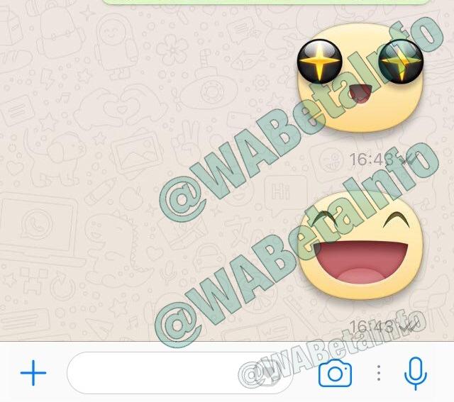 WhatsApp, stanno per arrivare gli sticker di Facebook (2)