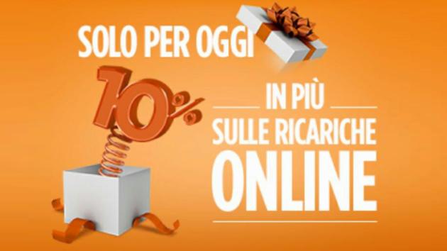 Wind vi regala il 10% in più sulle ricariche online di oggi