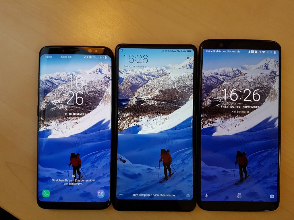 Galaxy S8 / Xiaomi Mi Mix 2 / OnePlus 5T