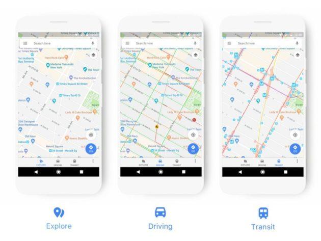 Google Maps: nuove icone e colori