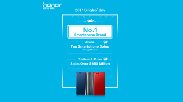 Honor, grande successo durante il Single Day in Cina