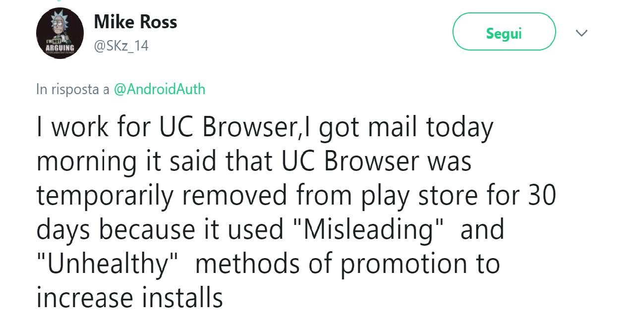 sviluppatore uc browser