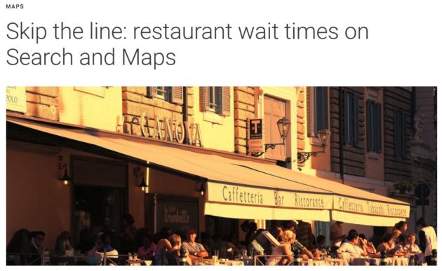 Google Search e Maps mostreranno i tempi di attesa dei ristoranti